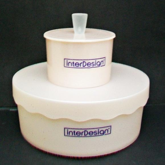 InterDesign Other - 2 InterDesign Storage Vanity Pink Plastic Boxes